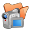 64x64px size png icon of Folder orange videos