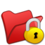 64x64px size png icon of Folder red locked
