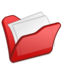 64x64px size png icon of Folder red mydocuments