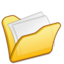64x64px size png icon of Folder yellow mydocuments