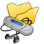 64x64px size png icon of Folder yellow mymusic