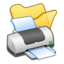 64x64px size png icon of Folder yellow printer