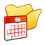 64x64px size png icon of Folder yellow scheduled tasks
