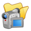 64x64px size png icon of Folder yellow videos