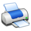 64x64px size png icon of Hardware Printer Blue
