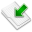 64x64px size png icon of Downloads White