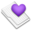 64x64px size png icon of Favorites Purple White