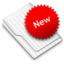 64x64px size png icon of New White