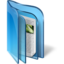 64x64px size png icon of Live Folder Blue