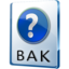 64x64px size png icon of BAK File