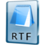 64x64px size png icon of RTF File