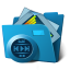 64x64px size png icon of folder multimedia