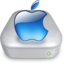 64x64px size png icon of Drive Apple aqua metal