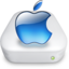 64x64px size png icon of Drive Apple aqua