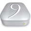 64x64px size png icon of Drive OS 9 alternative metal