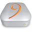 64x64px size png icon of Drive OS 9 metal