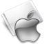 64x64px size png icon of Folder Apple gray