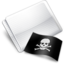 64x64px size png icon of Folder Flag Skull And Crossbones