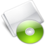 64x64px size png icon of Folder Optical Disc lime