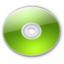64x64px size png icon of Optical Disk Aqua lime