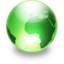 64x64px size png icon of Sphere lime