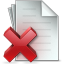 64x64px size png icon of Document Delete