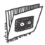 64x64px size png icon of folder video