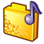 64x64px size png icon of folder musics