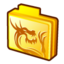 64x64px size png icon of folder rising dragon