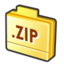 64x64px size png icon of folder zip