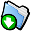 64x64px size png icon of Downloads Folder