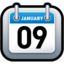 64x64px size png icon of Calendar Blue
