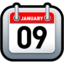 64x64px size png icon of Calendar Red