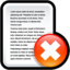 64x64px size png icon of File Delete
