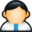 64x64px size png icon of User Administrator Blue