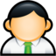 64x64px size png icon of User Administrator Green