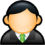 64x64px size png icon of User Executive Green