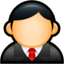 64x64px size png icon of User Executive Red