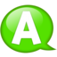 64x64px size png icon of Speech balloon green a