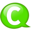 64x64px size png icon of Speech balloon green c