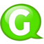 64x64px size png icon of Speech balloon green g