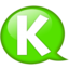 64x64px size png icon of Speech balloon green k