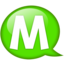 64x64px size png icon of Speech balloon green m