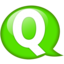 64x64px size png icon of Speech balloon green q