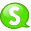 64x64px size png icon of Speech balloon green s