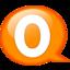 64x64px size png icon of Speech balloon orange o