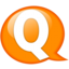 64x64px size png icon of Speech balloon orange q