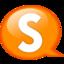 64x64px size png icon of Speech balloon orange s