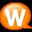 64x64px size png icon of Speech balloon orange w