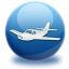 64x64px size png icon of airplane